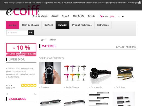 boutique coiffure et matériel professionnel